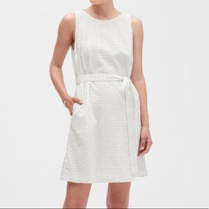 BANANA REPUBLIC NWT white eyelet lace dress